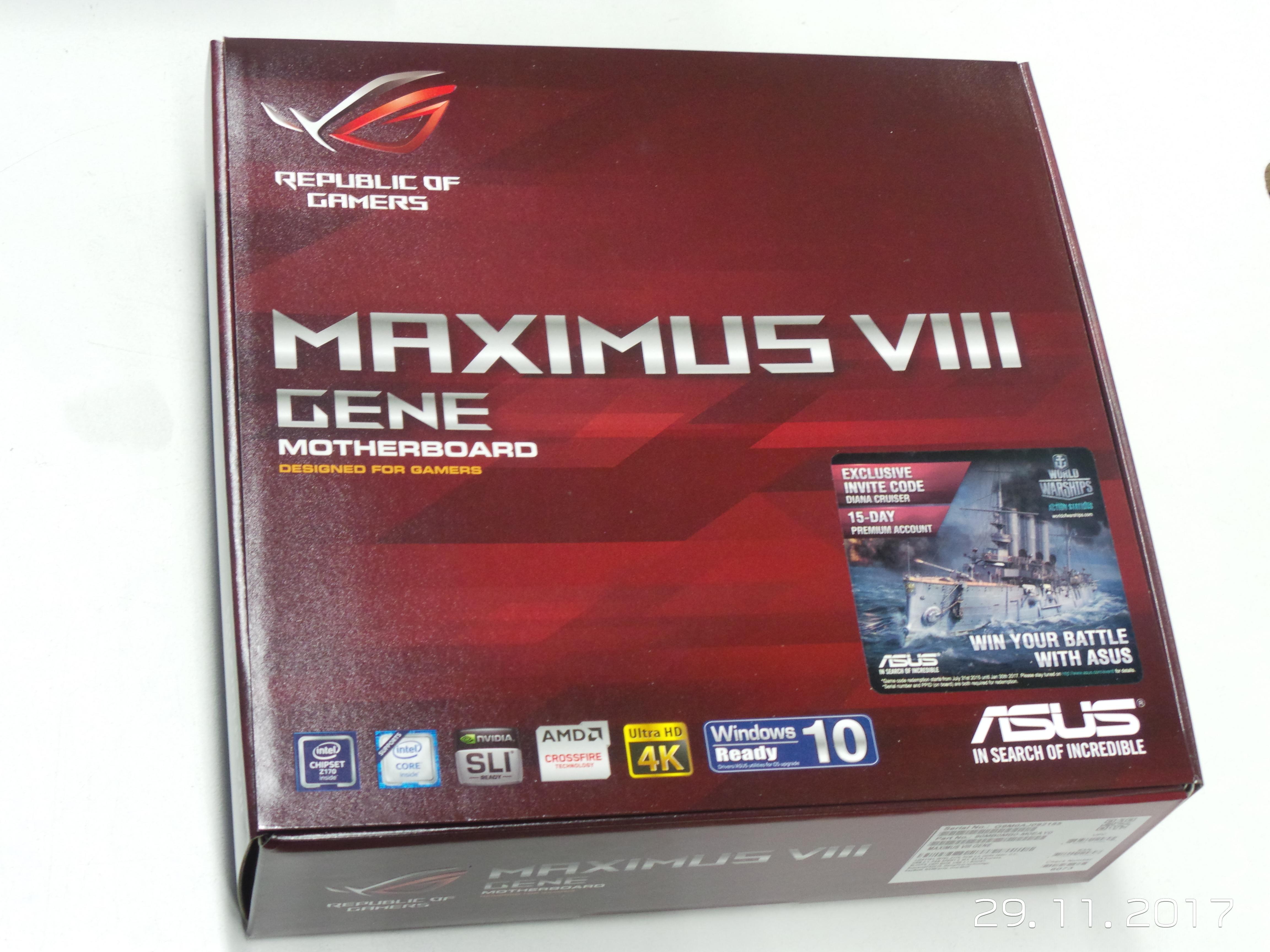 Rog Maximus Viii Gene Motherboard